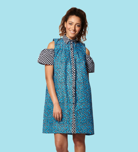 Shirt Dress Cold Shoulder