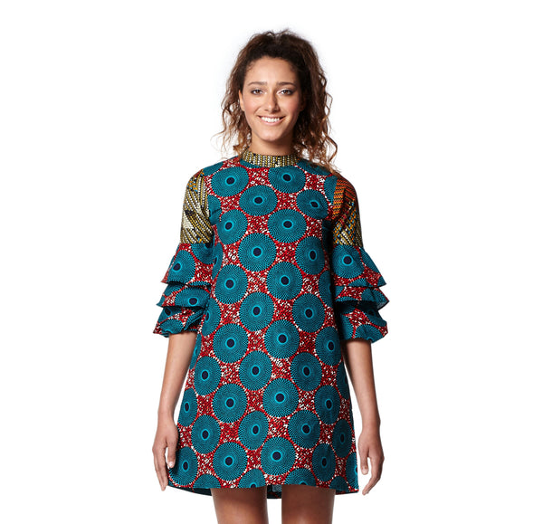 Bell Layered Sleeve Shift