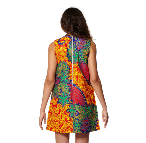 Mandarin Shift Dress