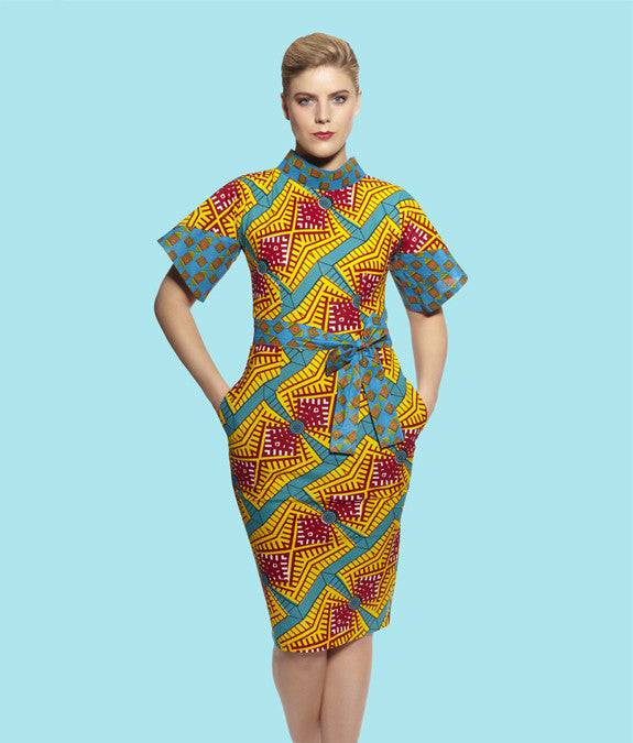 Pencil Dress with Wing Sleeves
