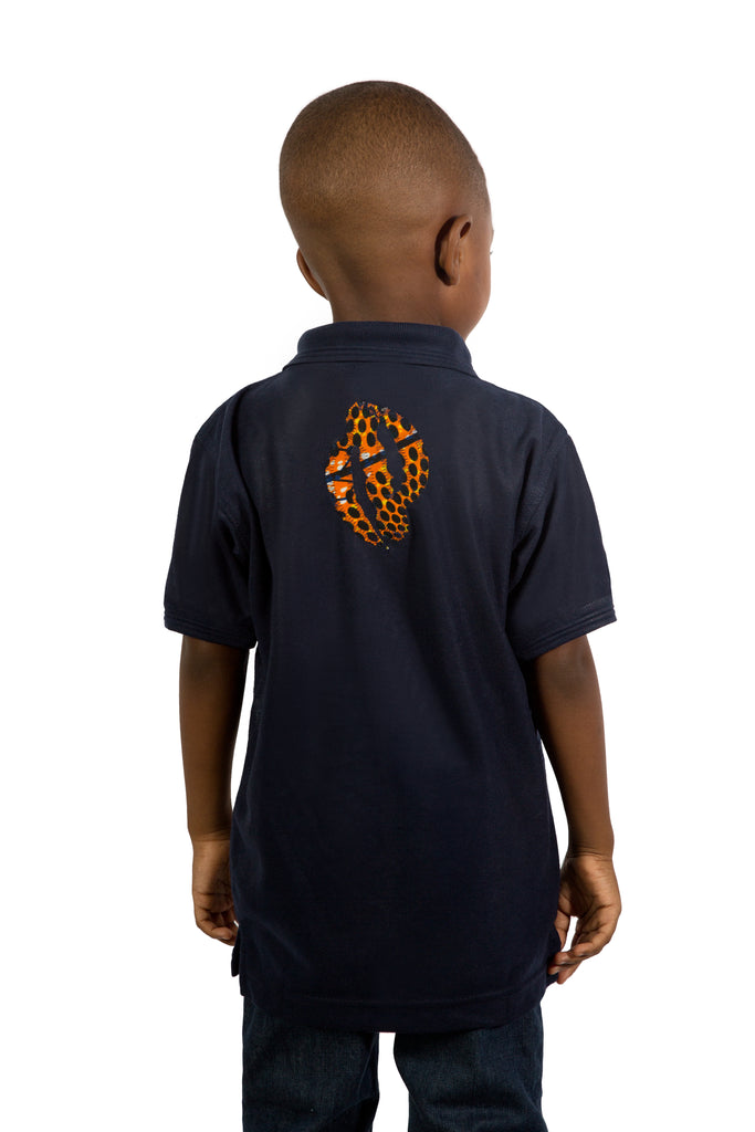 Afrika Polo Shirt- Navy Blue