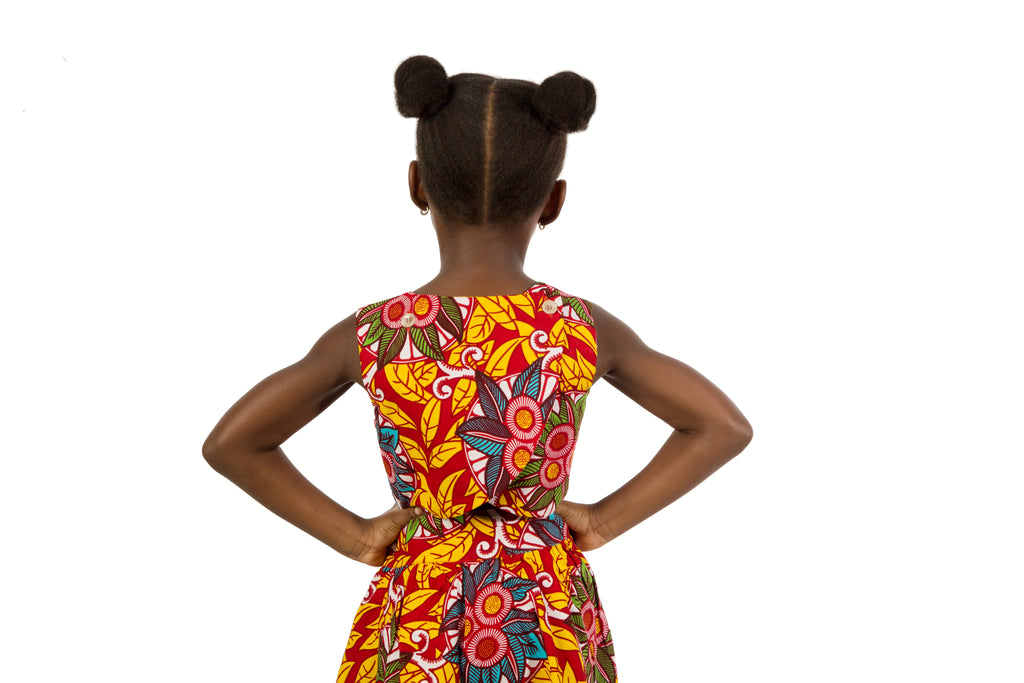 Girls Back Wrap Dress