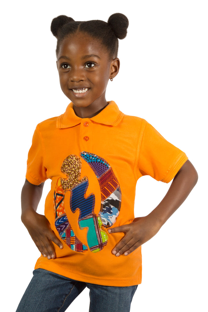 Afrika Polo Shirt- Orange