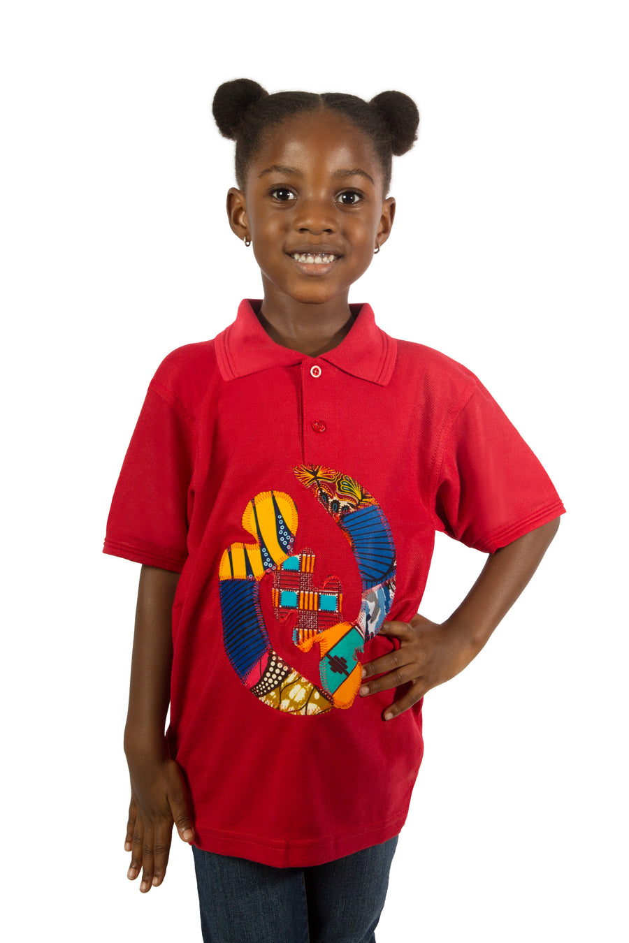 Afrika Polo Shirt- Red