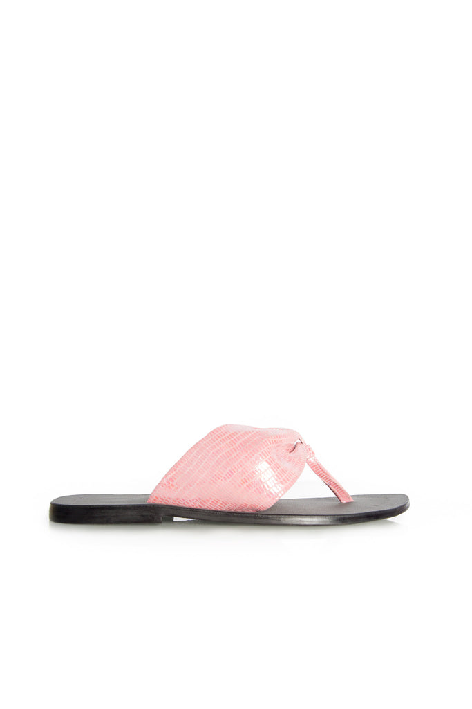 Afrika Thong - Glittery Pink leather