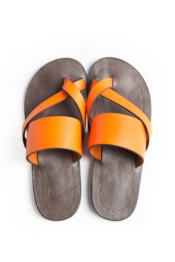 Kriss Kross - Vibrant Orange leather