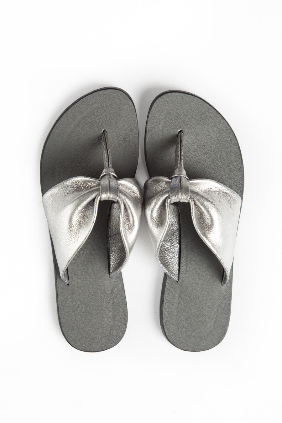 Afrika Thong - Silver leather