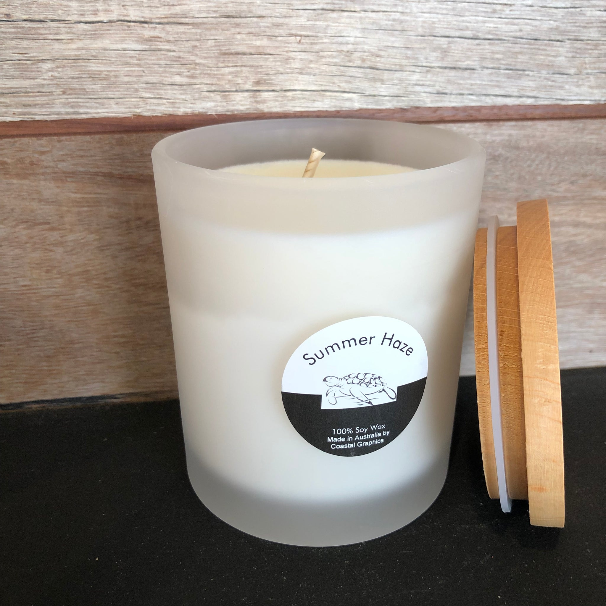 SUMMER HAZE Scented Soy Candle Large Glass