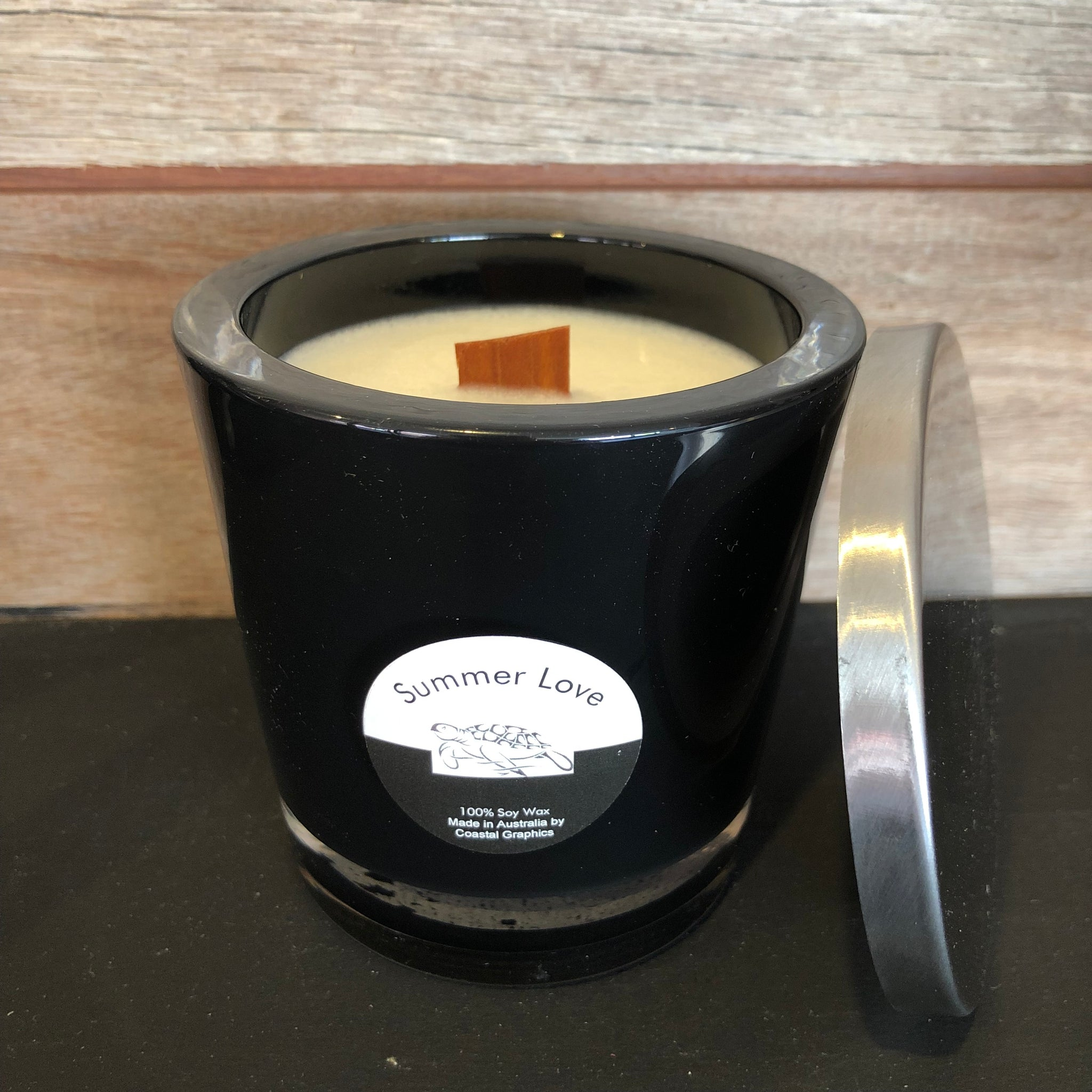 SUMMER LOVE Scented Soy Candle Wooden Wick