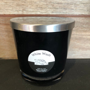 WHITE WASH Scented Soy Candle Wooden Wick