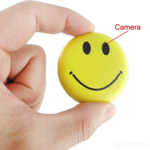 SPY Smiley Face Badge