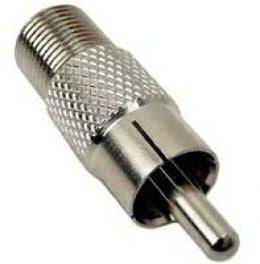 "Connector ""F"" Fem. to RCA male"