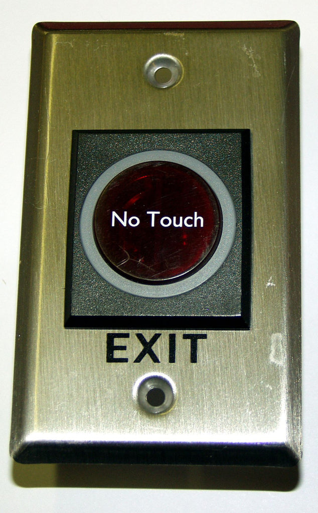 Access Control No-Touch exit button