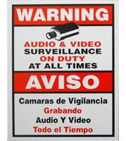 Surveillance Warning Sign