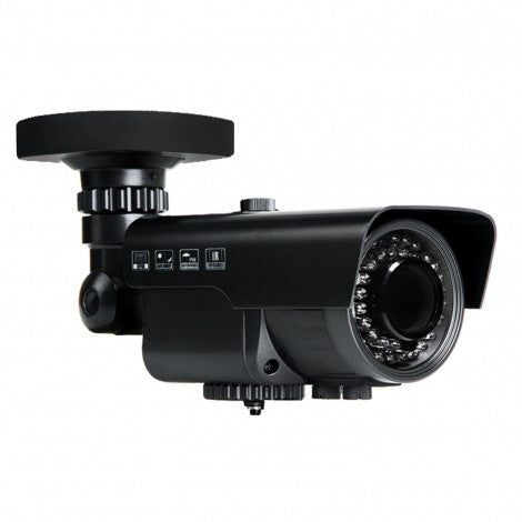 2MP HD TVI 1080P WDR Armored Bullet Camera, Vari-focal, Motorized Zoom, Black