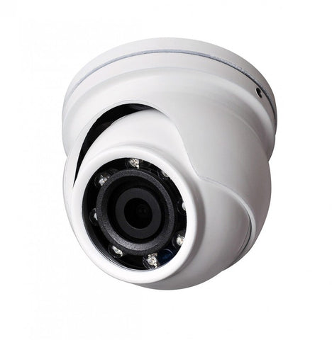 "2.4MP HD 4-Way 1080P Microdome 1.75"" Turret Camera, 3.6mm lens, White"