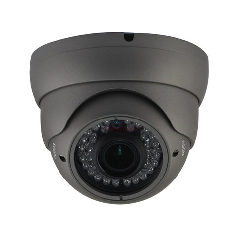 2MP HD 4-Way 1080P Armored Turret Dome Camera, Vari-focal 2.8-12mm lens, Gray