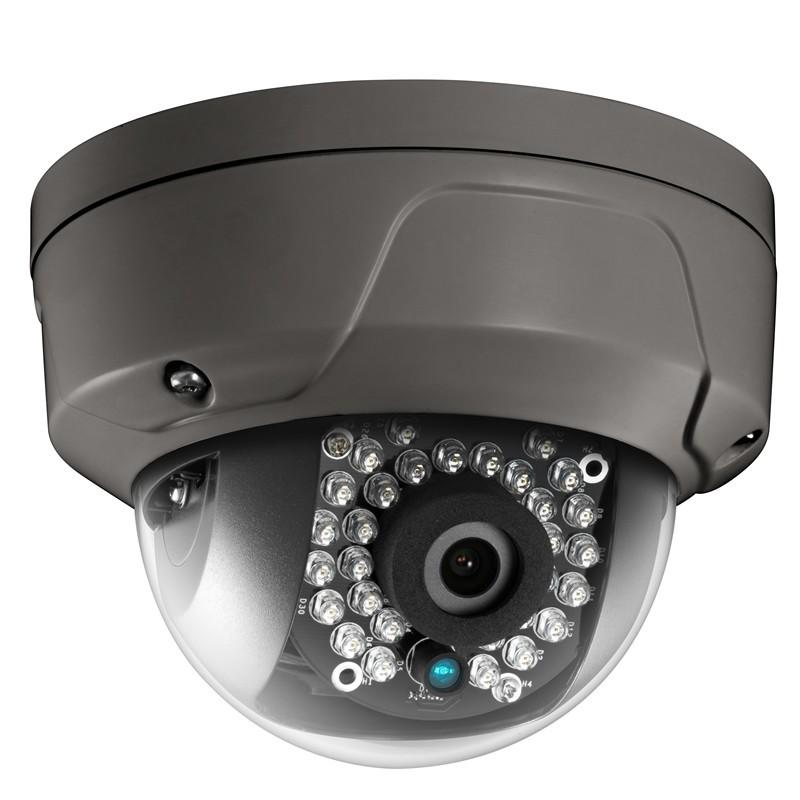 4MP True WDR Fixed IR Dome Network Camera, Grey