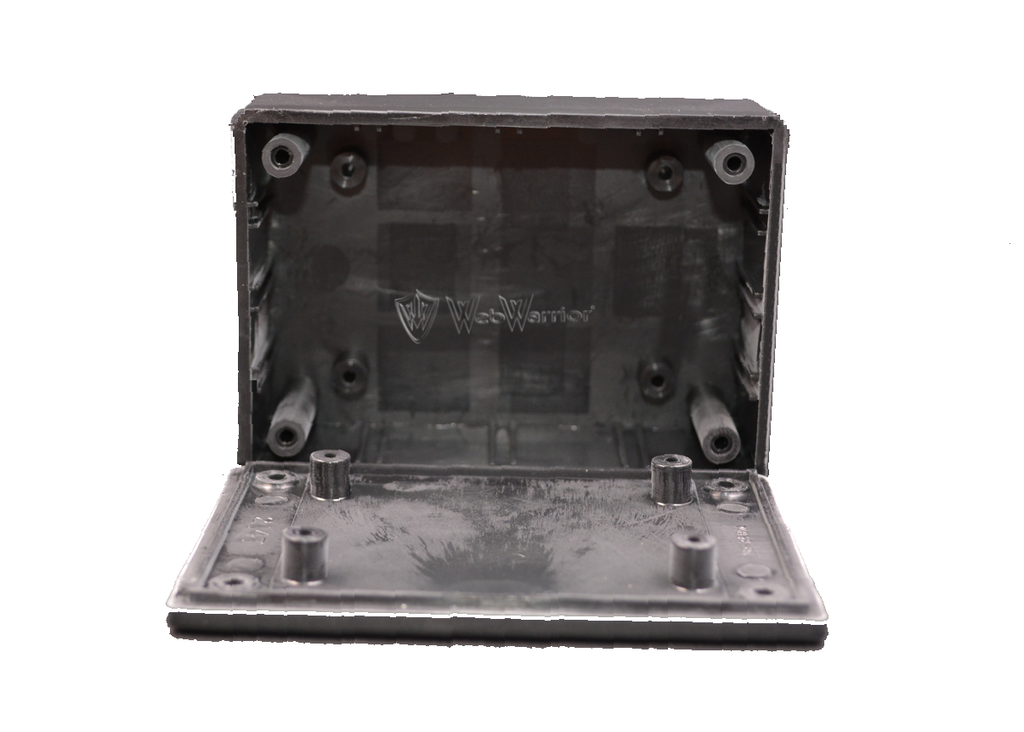 "Enclosure Box 2""X3""X1"" black plastic"