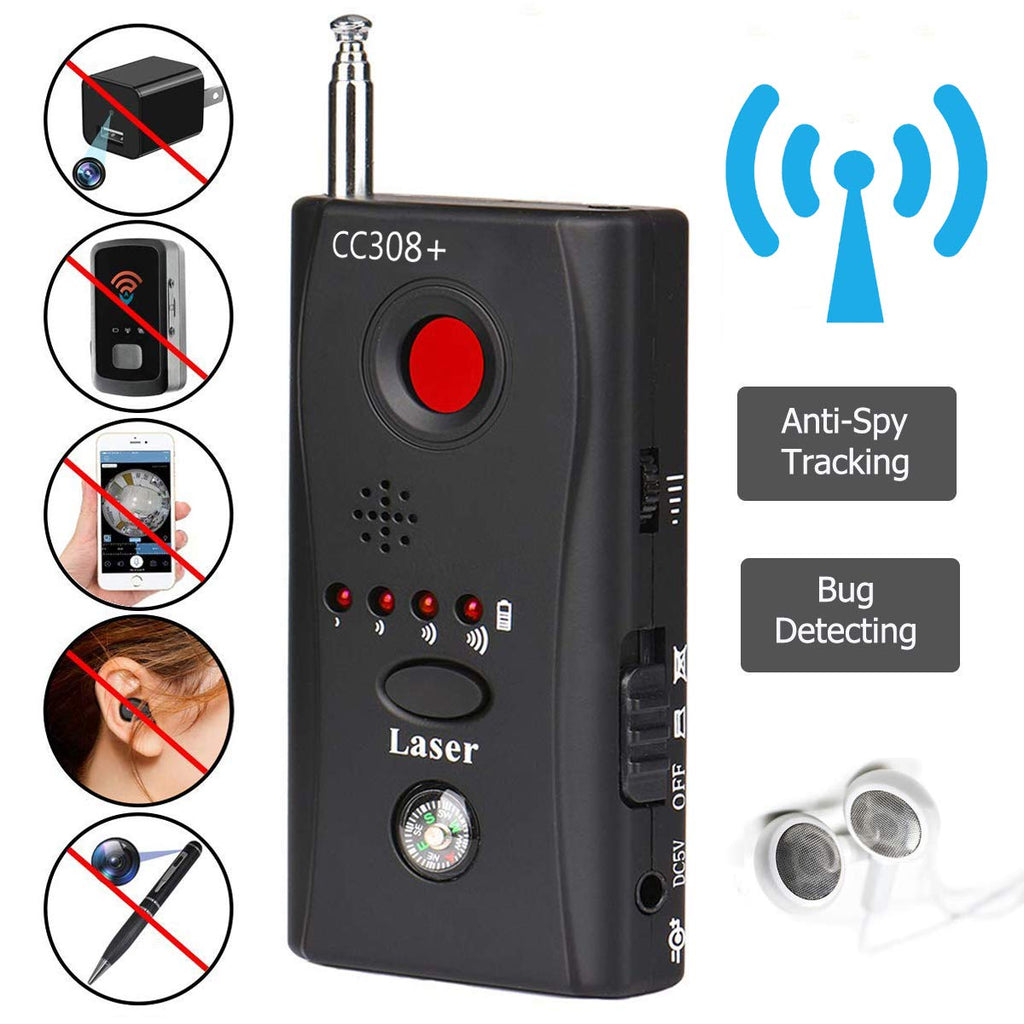 Anti-Spy Signal vBug RF Detector Hidden Camera Laser Lens GSM Device Finder