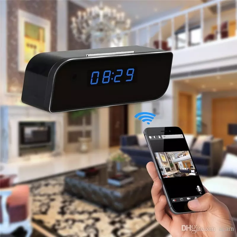 1080P Wifi Pinhole Hidden Alarm Clock Camera