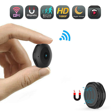 Smallest 1080P Spy cam with motion detection and Wi-Fi, SD card w/nightvision