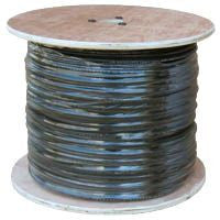 Cable 500 ft. Spool Siamese Black