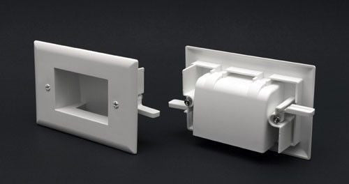 Shallow Wall Plate Scoop for Siamese Cable