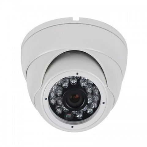2MP HD 4-Way 1080P Armored Turret Mini Dome Camera, 2.8mm Lens, White
