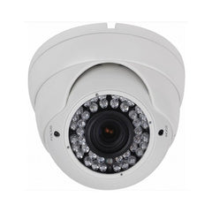 2MP HD 4-Way 1080P Armored Turret Dome Camera, Vari-focal 2.8-12mm lens, White