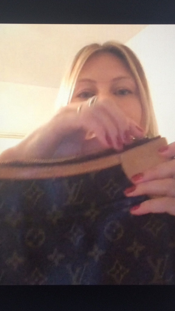 A still from YouTube of Louis Vuitton Odeon mm bag
