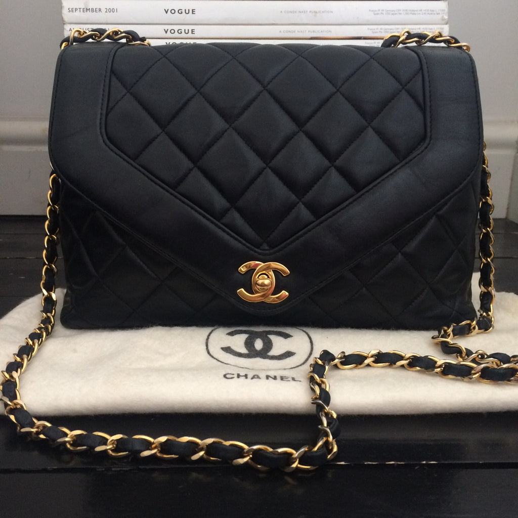Chanel V-Shaped Flap Quilted Bag