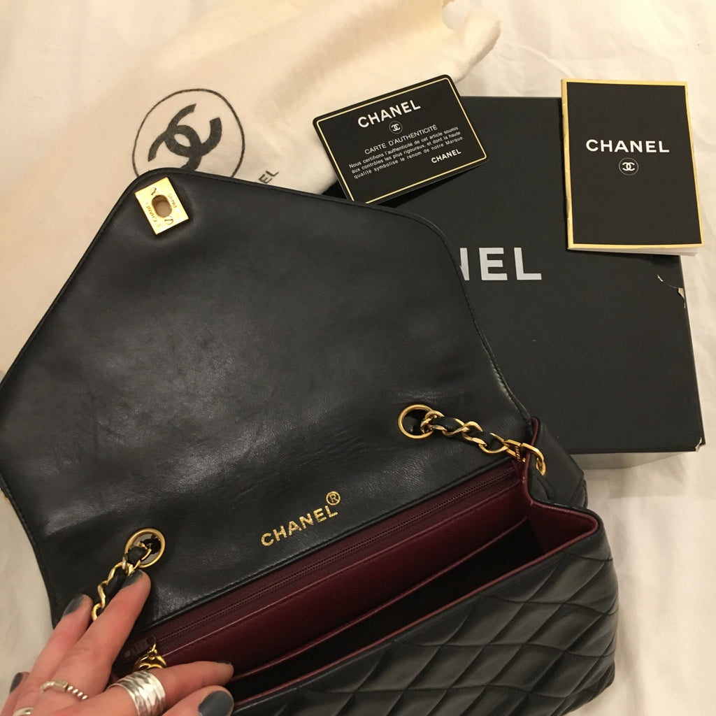 Chanel Flap Bag Inside View