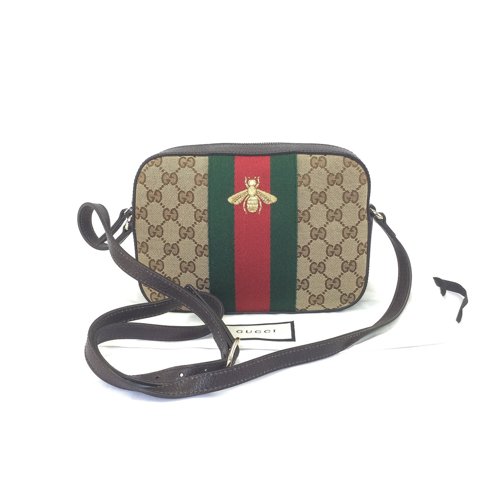 Gucci Webbed Bee Disco Bag