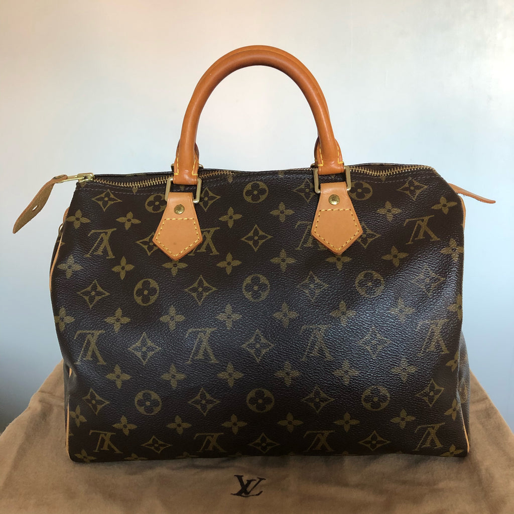 Louis Vuitton Speedy 30 back view