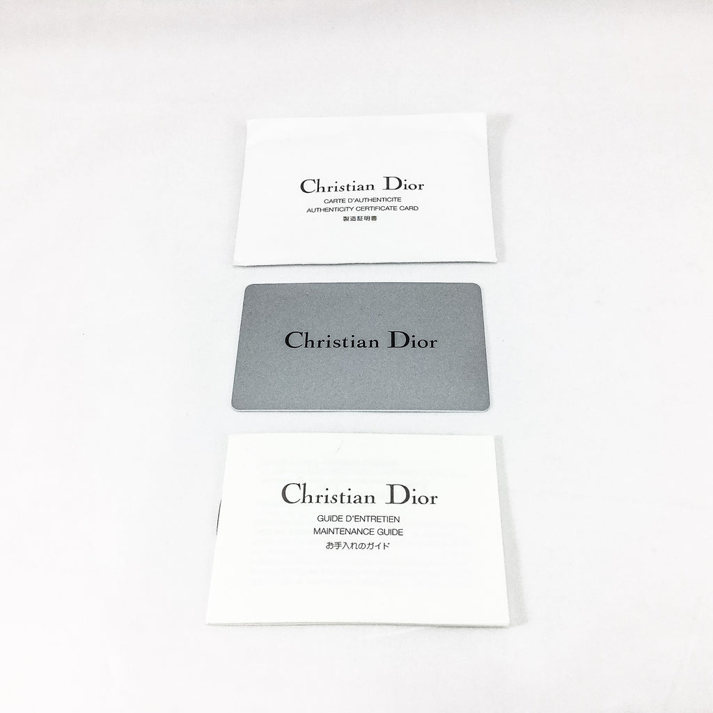 Dior authenticity card and maintenance guide