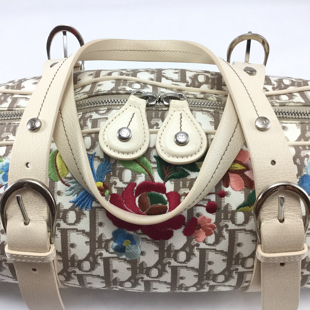 Dior Monogram and Vintage Flowers Bowling Bag hardware