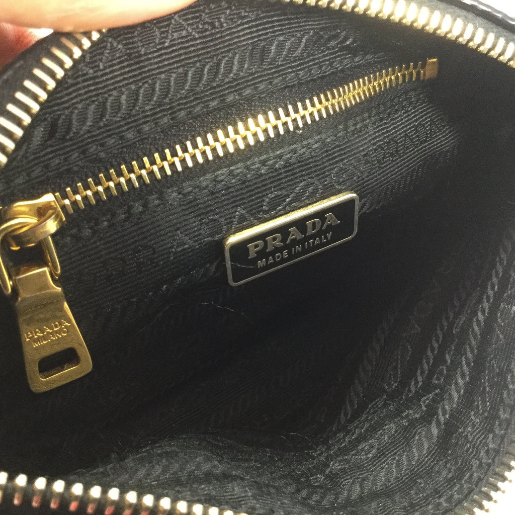 Prada purse inside view