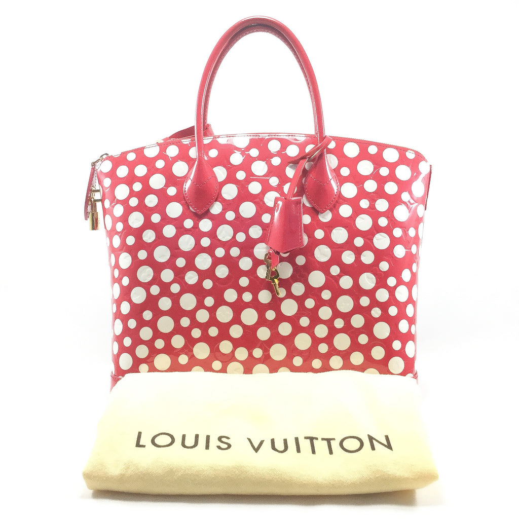 Louis Vuitton Lockit Yayoi Kusama Front View With Dustbag