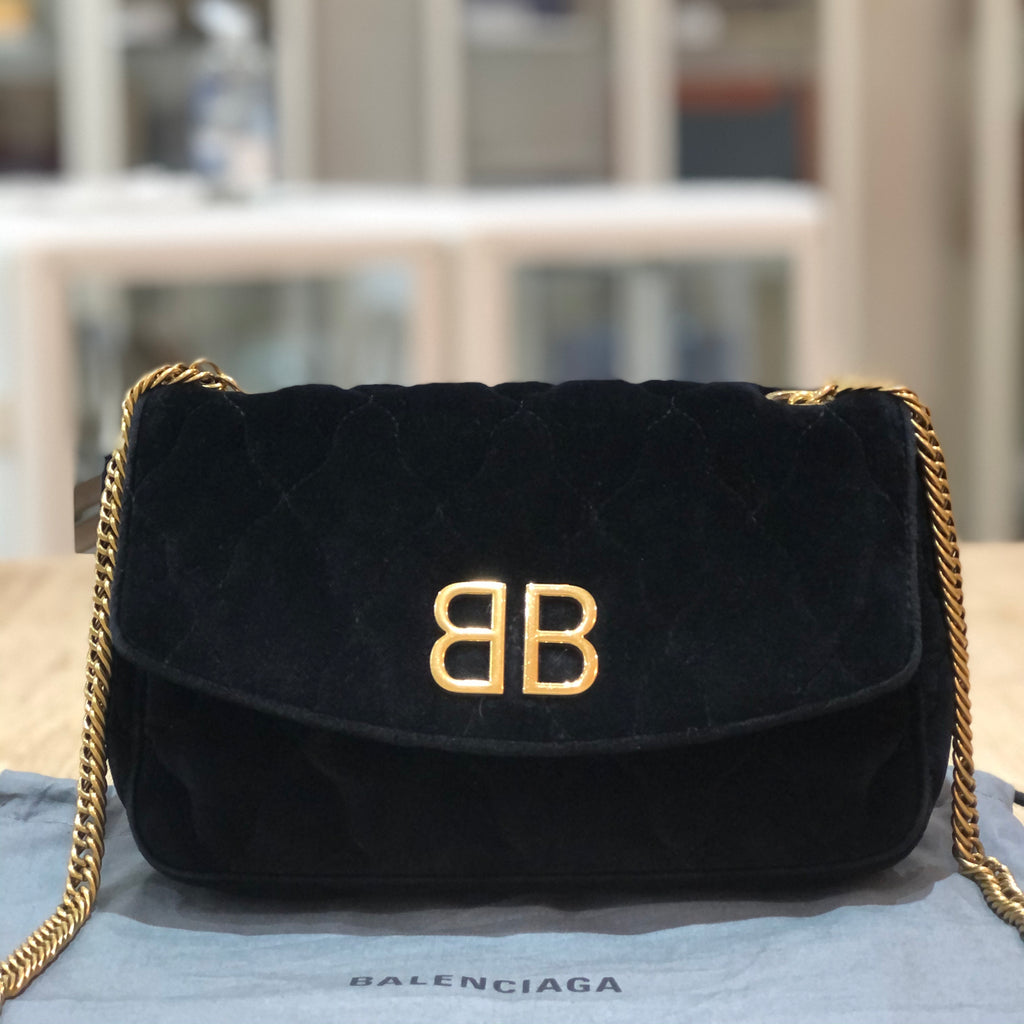 Balenciaga BB Chain Quilted Wallet