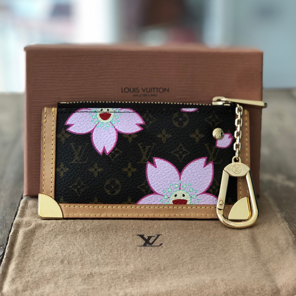 Louis Vuitton Murakami Cherry Blossom Key Pouch Front View
