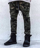 SikSilk Drop Crotch Camo Poly Joggers