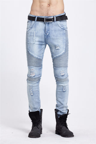 Represent Biker Denim - New Black/Blue Jeans