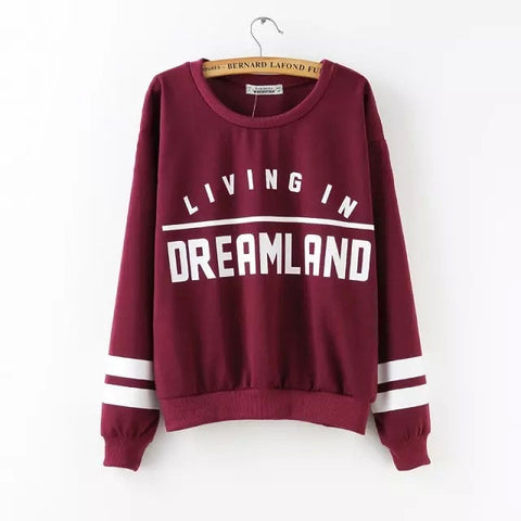Living In Dreamland Red Pullover