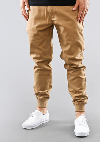Serein Beige Swacket Joggers In Khaki