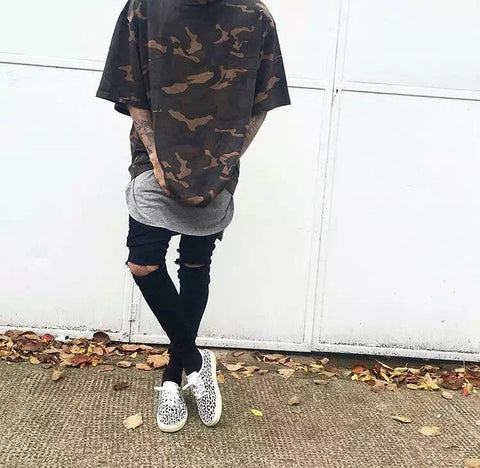 Oversized Dust Camo Short Sleeve Tee Yeezy Season