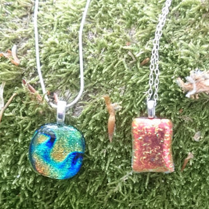 Glass necklaces