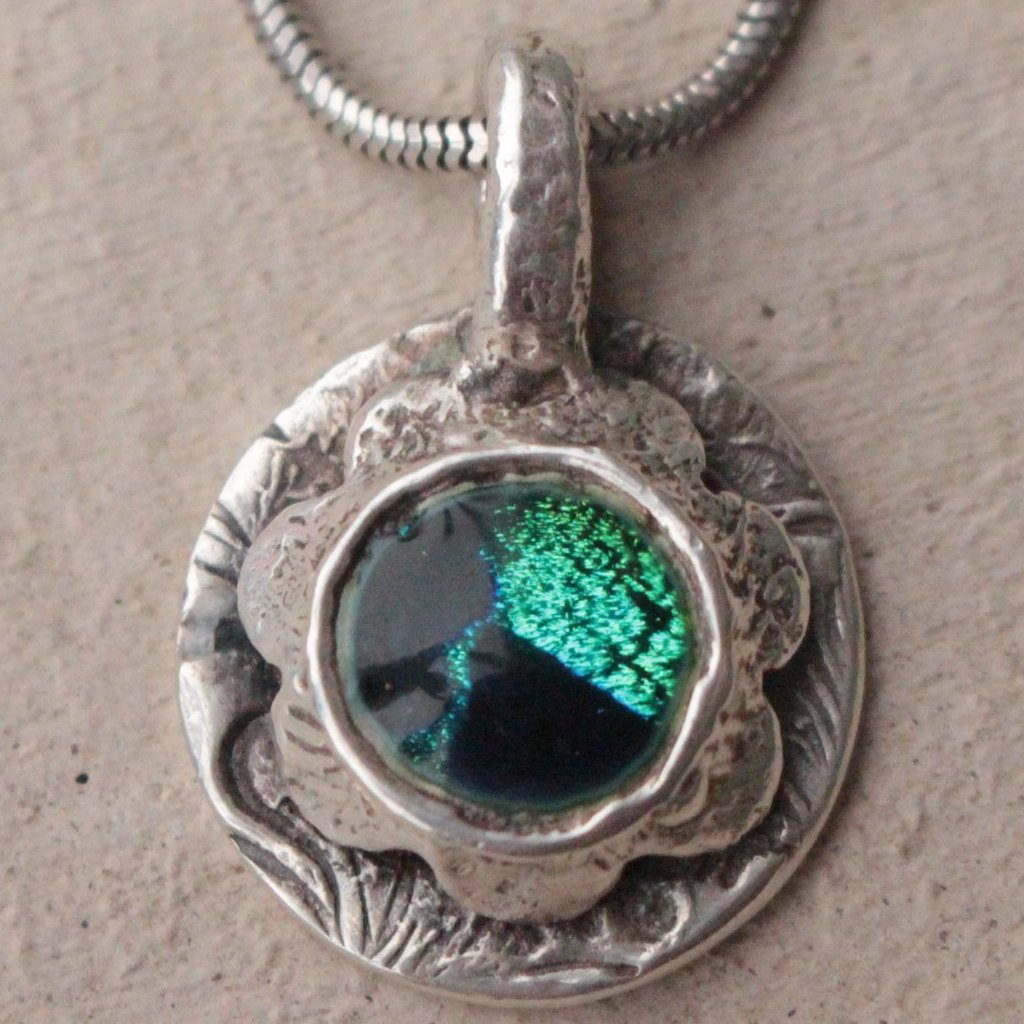 Green flower amulet