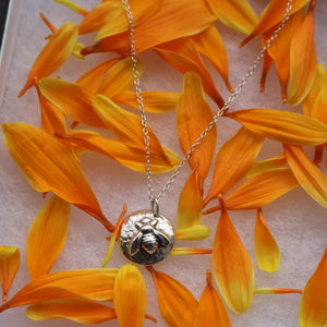 Honeycomb bee pendant