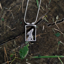Load image into Gallery viewer, Silver hare pendant